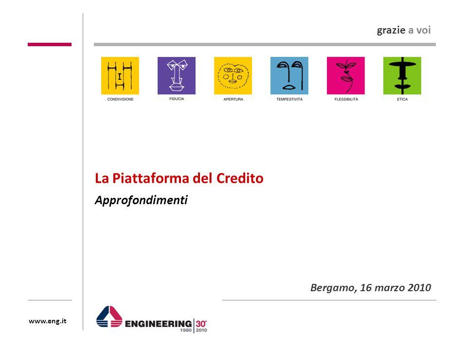 www.eng.it La Piattaforma del Credito Approfondimenti Bergamo, 16 marzo 2010 grazie a voi
