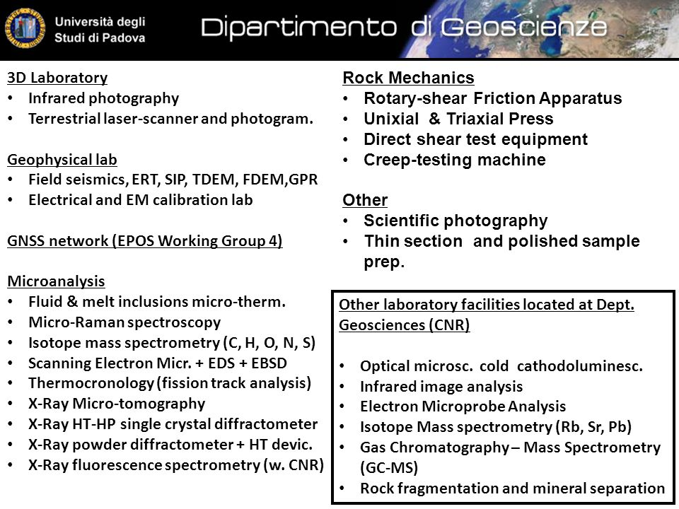 3D Laboratory Infrared photography Terrestrial laser-scanner and photogram.