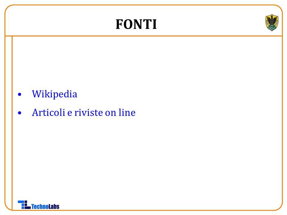 FONTI Wikipedia Articoli e riviste on line