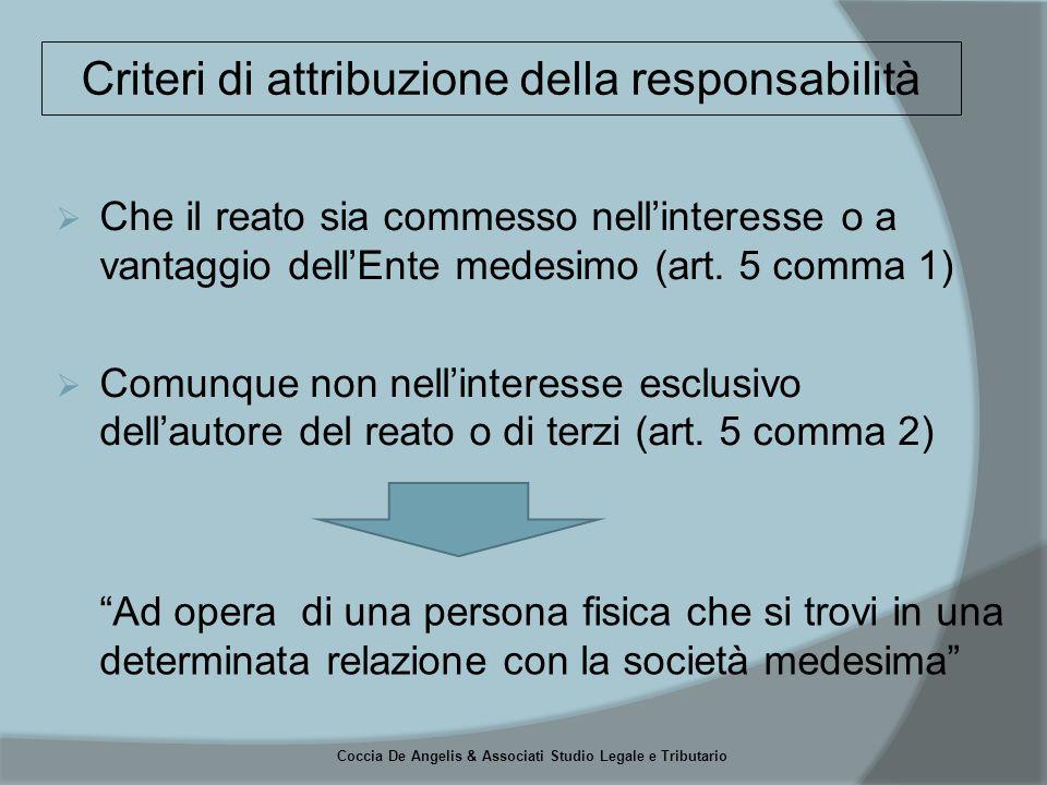 Coccia De Angelis & Associati Studio Legale e Tributario  Soggetti in posizione apicale  Soggetti sottoposti all'altrui direzione I Soggetti
