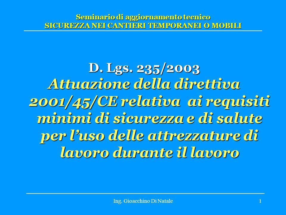 Ing.Gioacchino Di Natale1 D. Lgs.