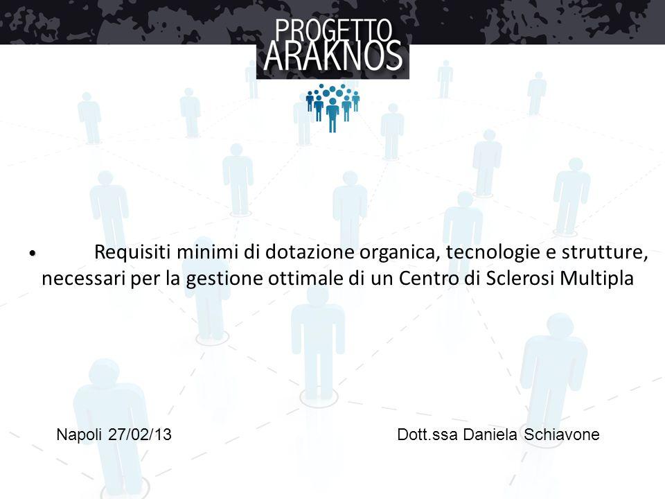 Requisiti minimi di dotazione organica, tecnologie e strutture, necessari per la gestione ottimale di un Centro di Sclerosi Multipla Napoli 27/02/13Do