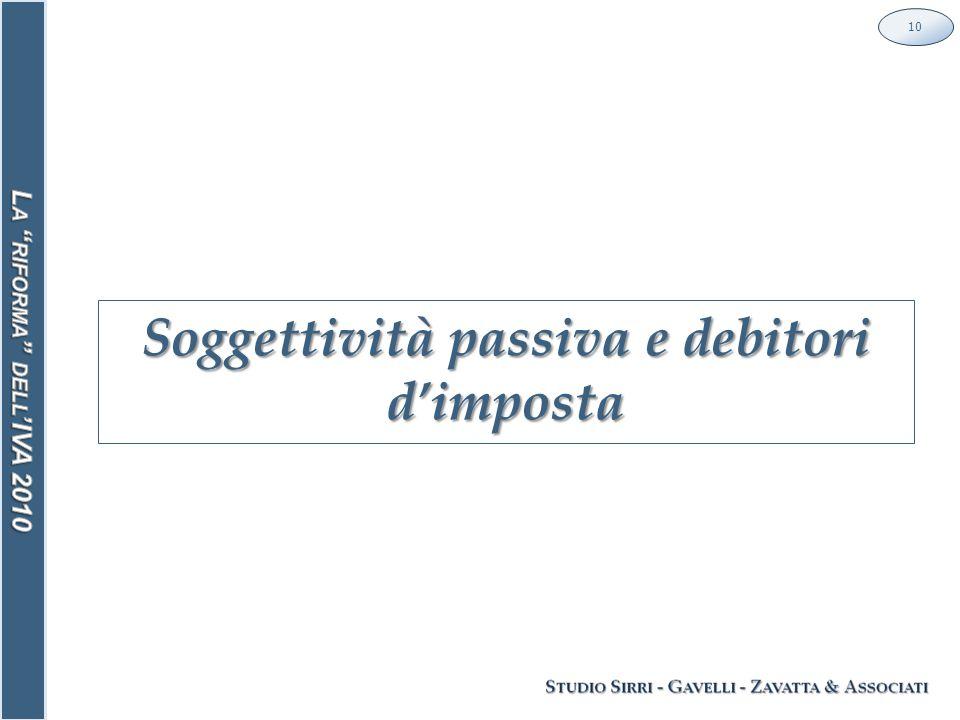 Soggettività passiva e debitori d'imposta 10