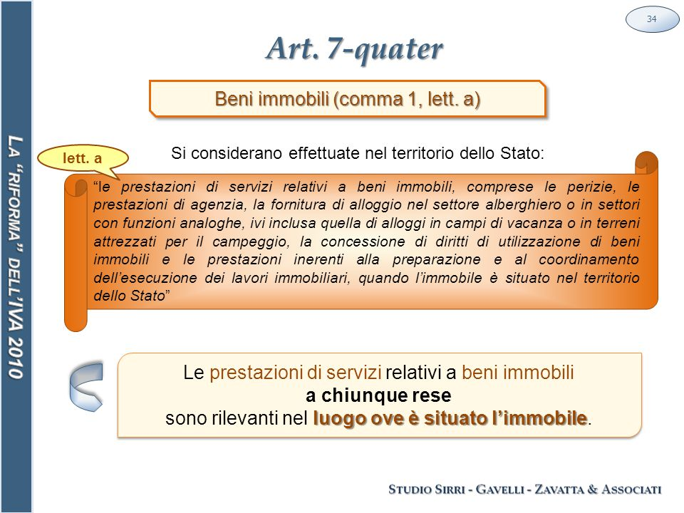 Art. 7-quater 34 Beni immobili (comma 1, lett.