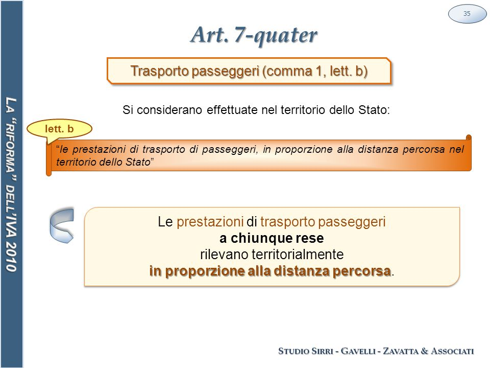 Art. 7-quater 35 Trasporto passeggeri (comma 1, lett.