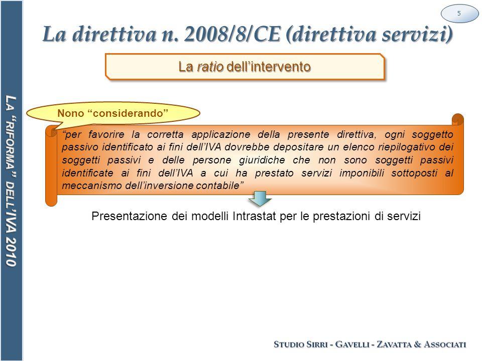 Art.7-septies 56 I servizi di telecomunicazione e di radiodiffusione (art.