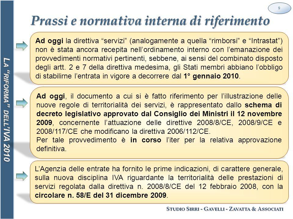 Le nuove regole per la territorialità dei servizi 30 Nuovo art.