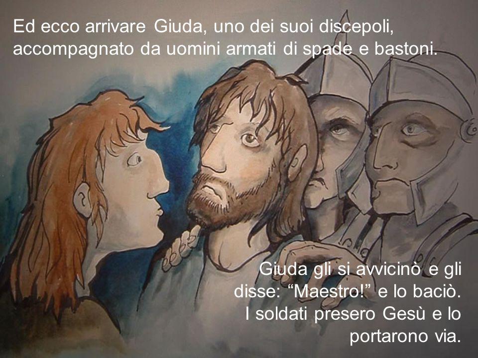 """Poi andarono in un podere che si chiamava Getsemani e così pregò: """"Padre! Tutto ti è possibile: allontana da me questo calice; però non come voglio io"""