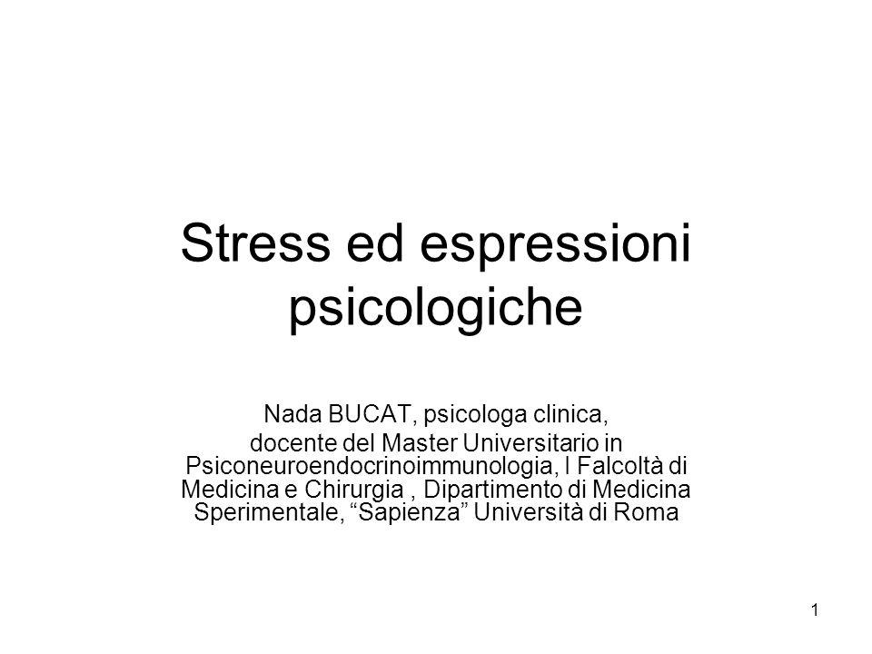 32 Come misurare lo stress.Cosa si misura: 1. gli stressor 2.