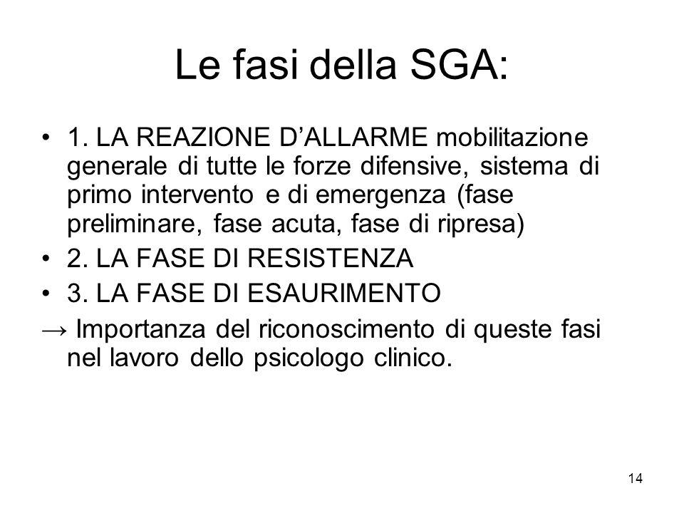 14 Le fasi della SGA: 1.