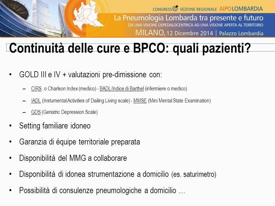 Continuità delle cure e BPCO: quali pazienti.