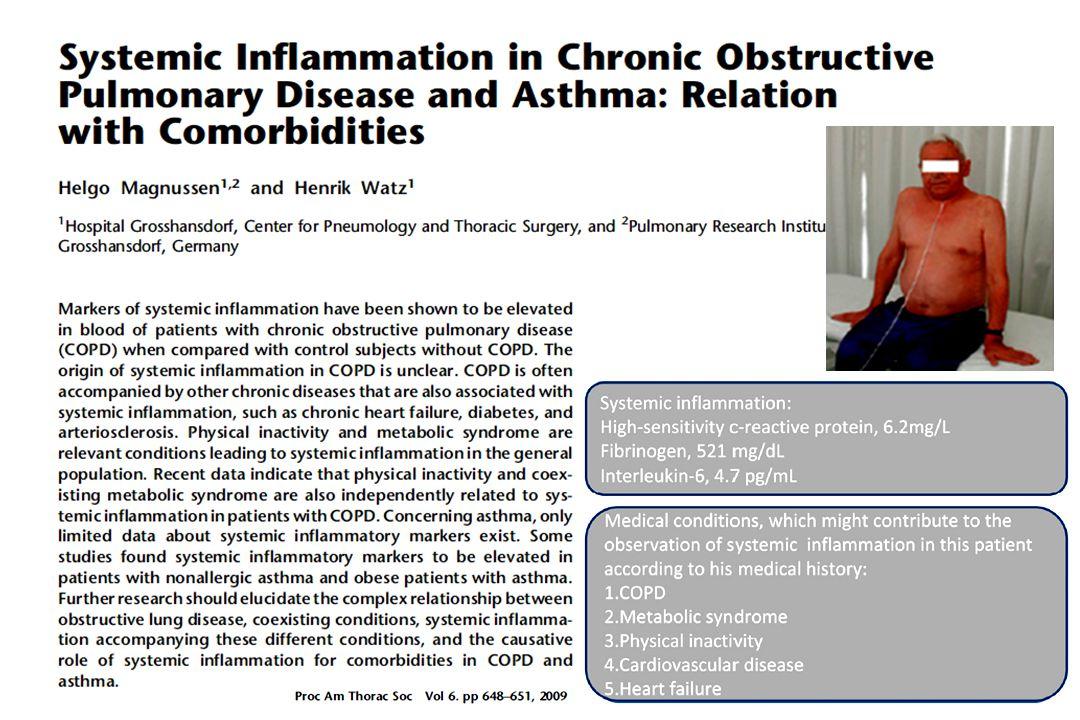 Inflammatory Events in Complex Comorbidities Ukena C et al. Int J Cardiol 2010