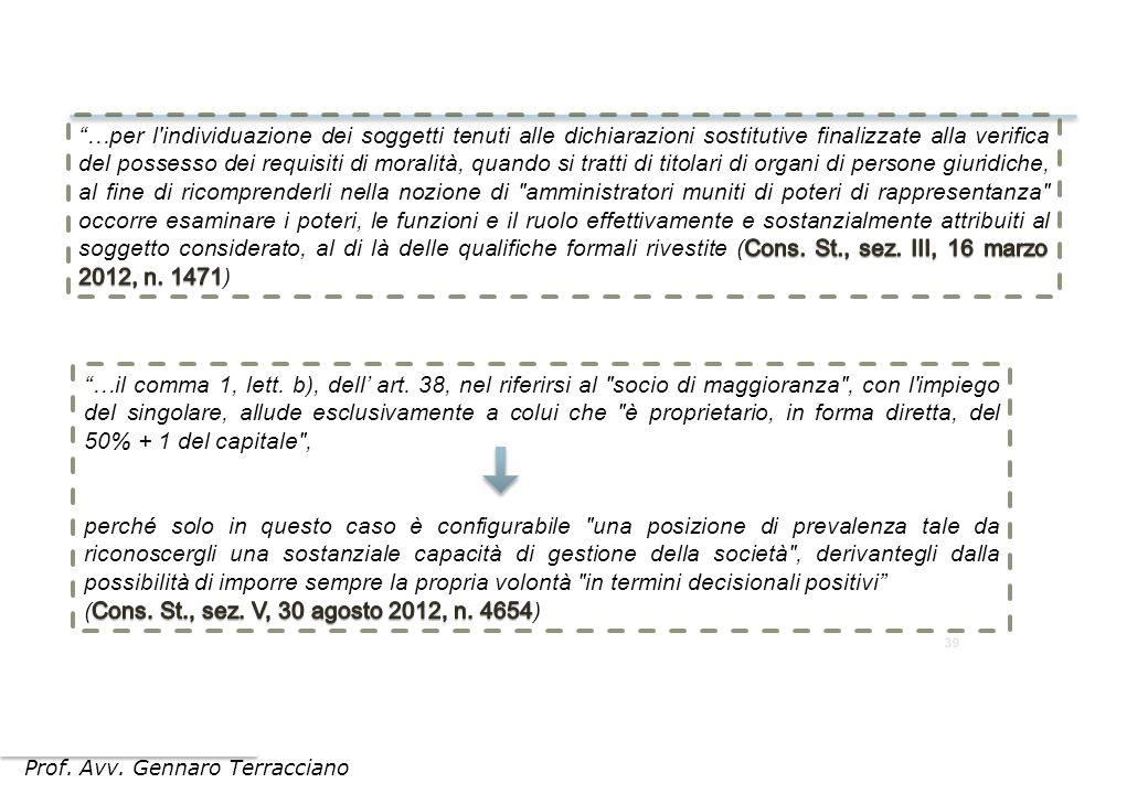 Prof. Avv. Gennaro Terracciano