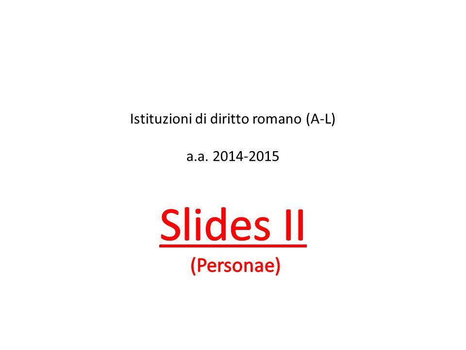 Istituzioni di diritto romano (A-L) a.a. 2014-2015