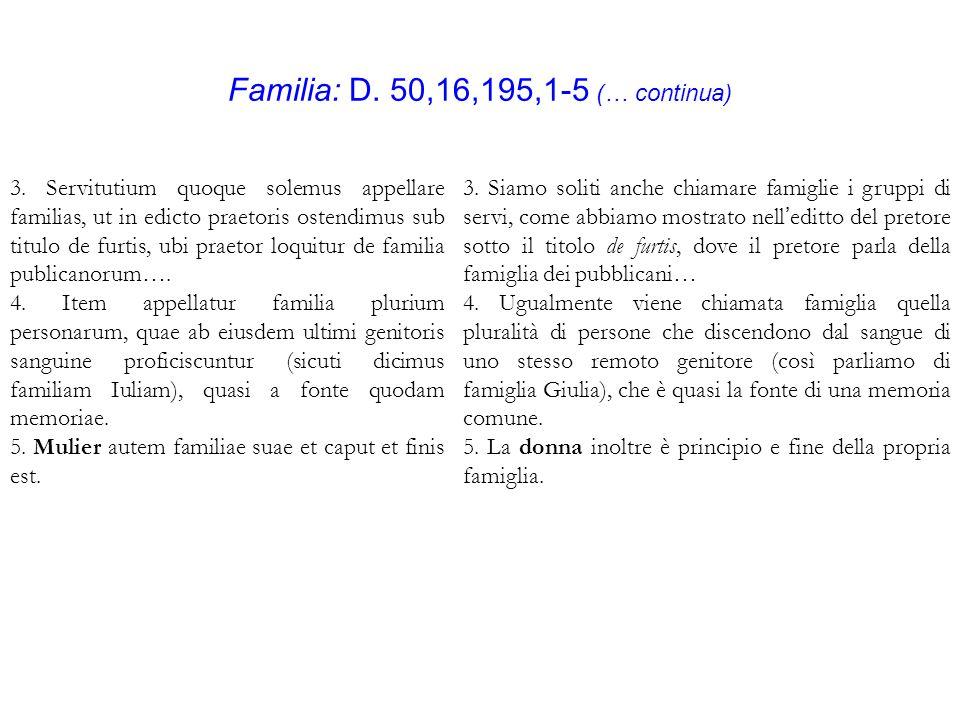 Familia: D. 50,16,195,1-5 (… continua) 3.