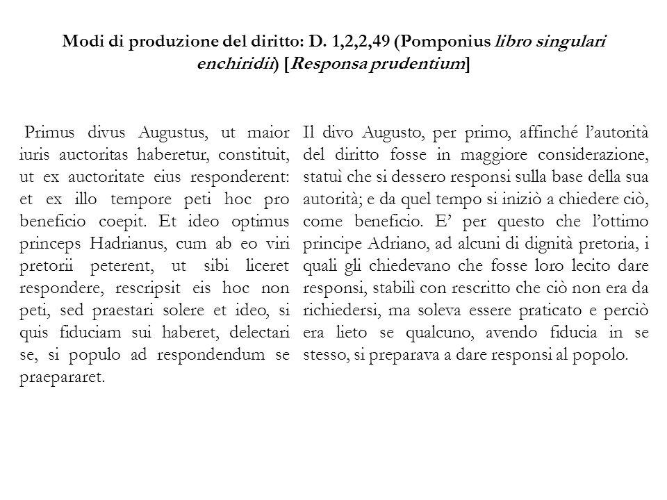 Modi di produzione del diritto: D.