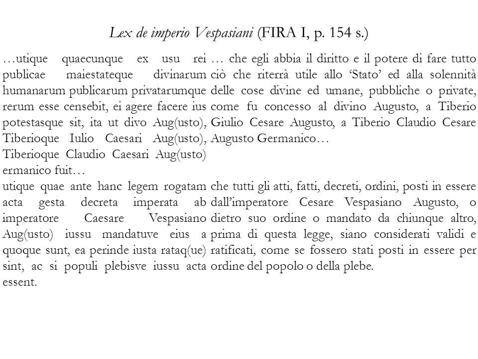 Lex de imperio Vespasiani (FIRA I, p.