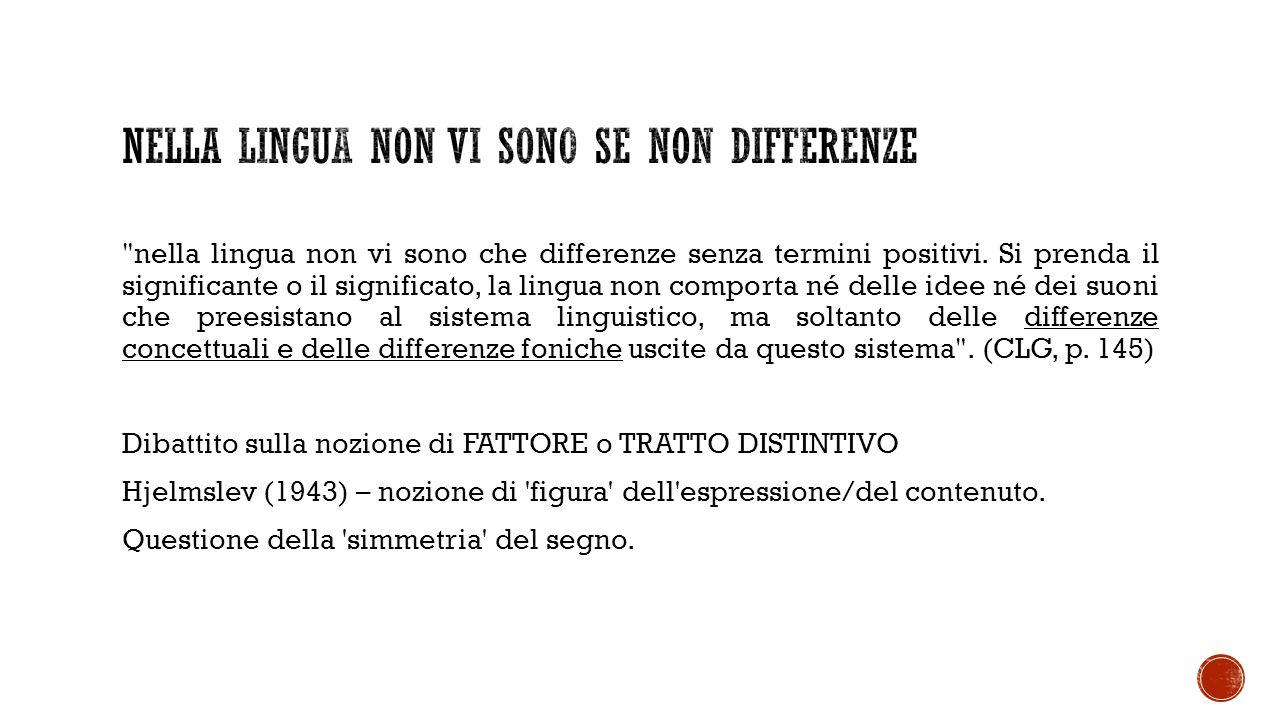 nella lingua non vi sono che differenze senza termini positivi.