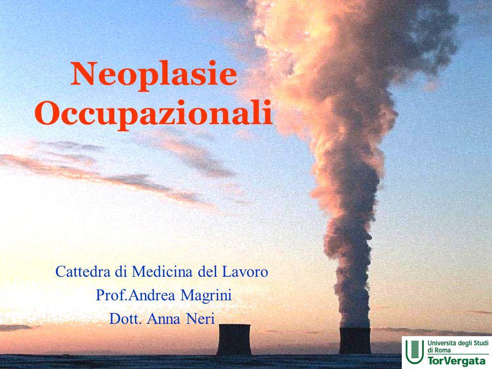 Neoplasie Occupazionali Cattedra di Medicina del Lavoro Prof.Andrea Magrini Dott. Anna Neri