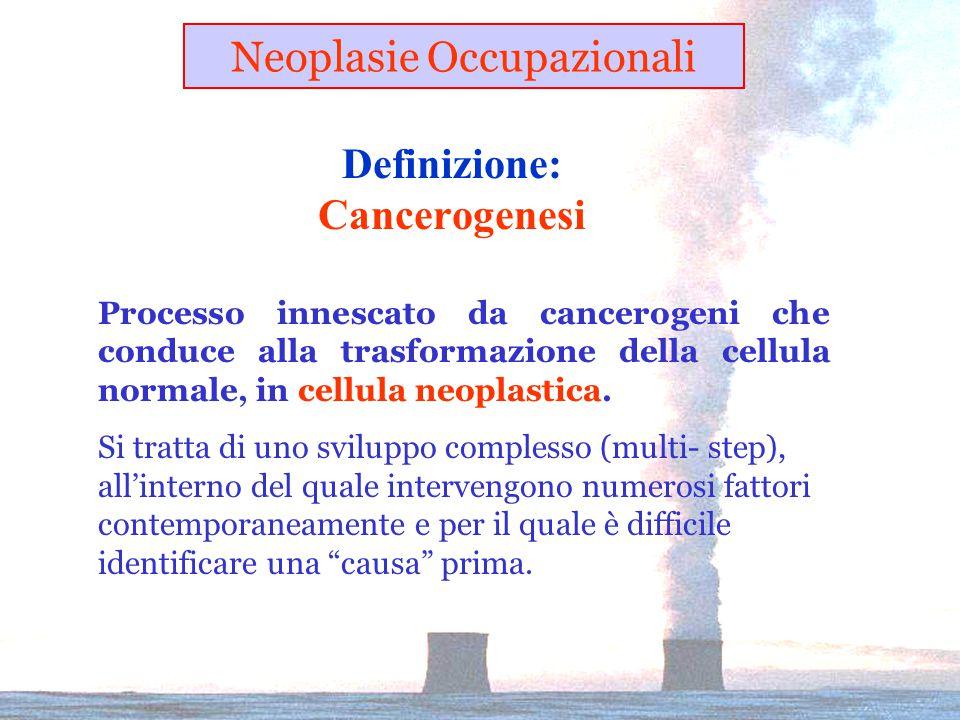 Definizione: Cancerogenesi Processo innescato da cancerogeni che conduce alla trasformazione della cellula normale, in cellula neoplastica.