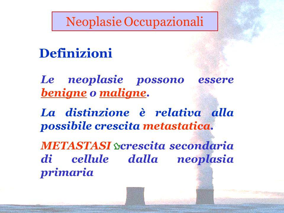 Le neoplasie possono essere benigne o maligne.