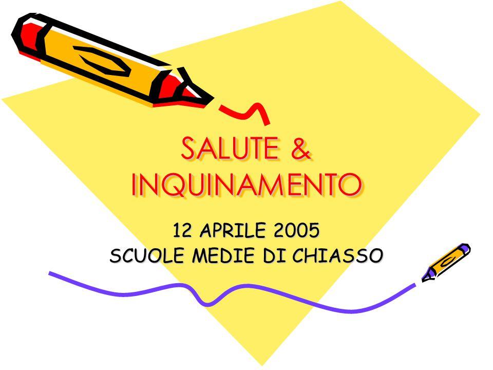 SALUTE & INQUINAMENTO 12 APRILE 2005 SCUOLE MEDIE DI CHIASSO