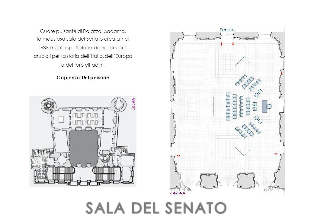 Cuore pulsante di Palazzo Madama, la maestosa sala del Senato creata nel 1638 è stata spettatrice di eventi storici cruciali per la storia dell'Italia