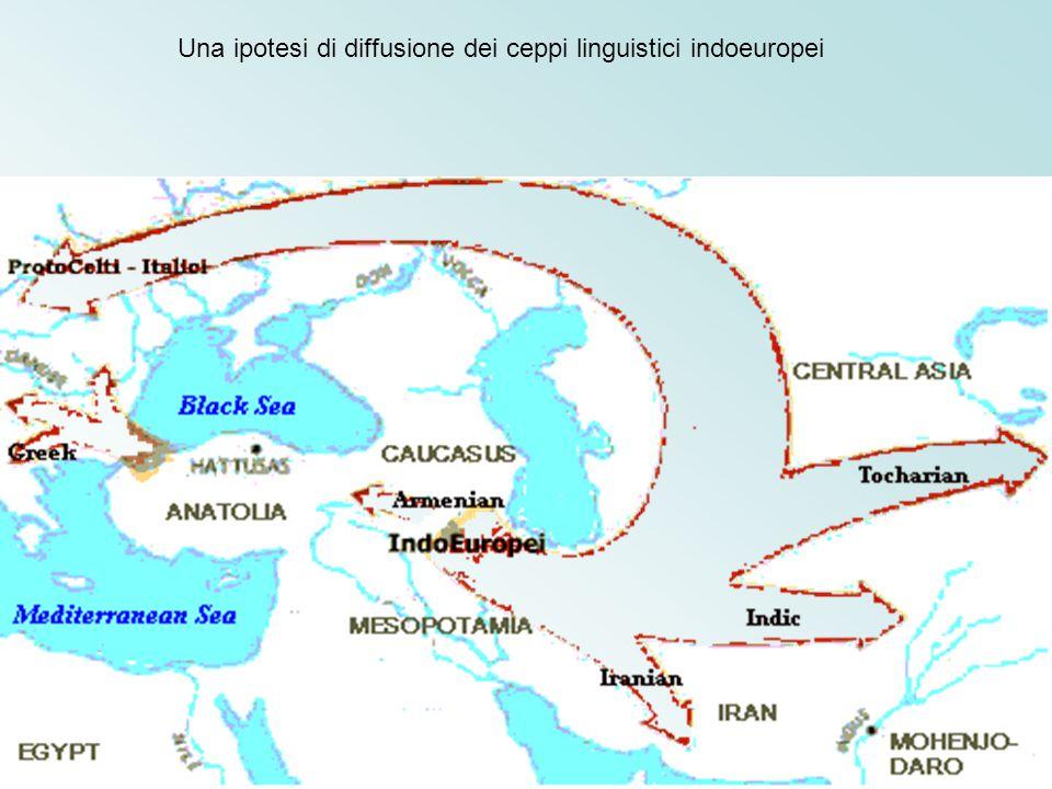 Una ipotesi di diffusione dei ceppi linguistici indoeuropei