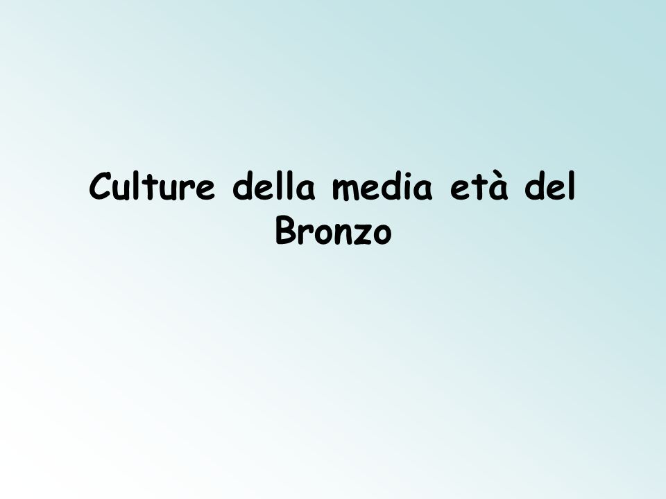 Culture della media età del Bronzo