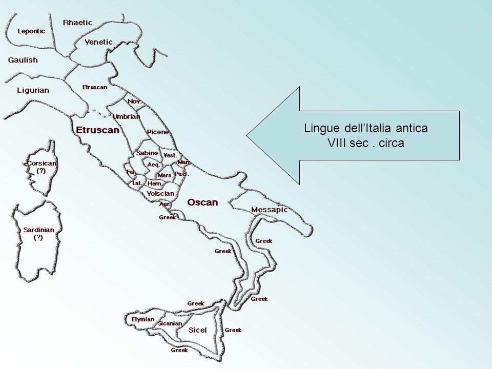 Lingue dell'Italia antica VIII sec. circa