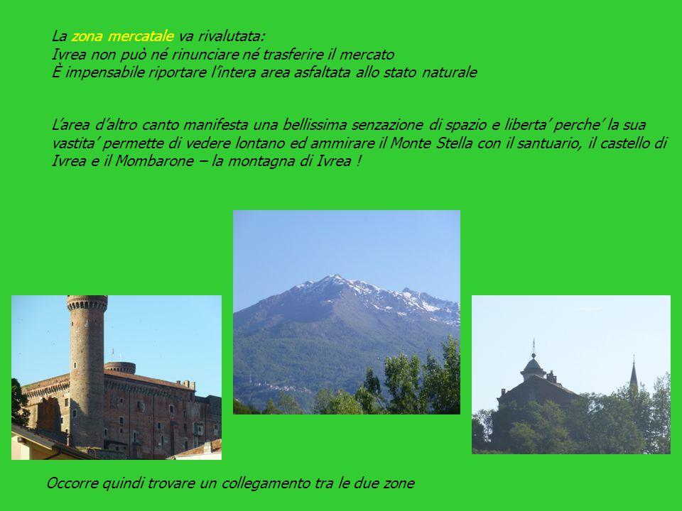 L'area d'altro canto manifesta una bellissima senzazione di spazio e liberta' perche' la sua vastita' permette di vedere lontano ed ammirare il Monte Stella con il santuario, il castello di Ivrea e il Mombarone – la montagna di Ivrea .