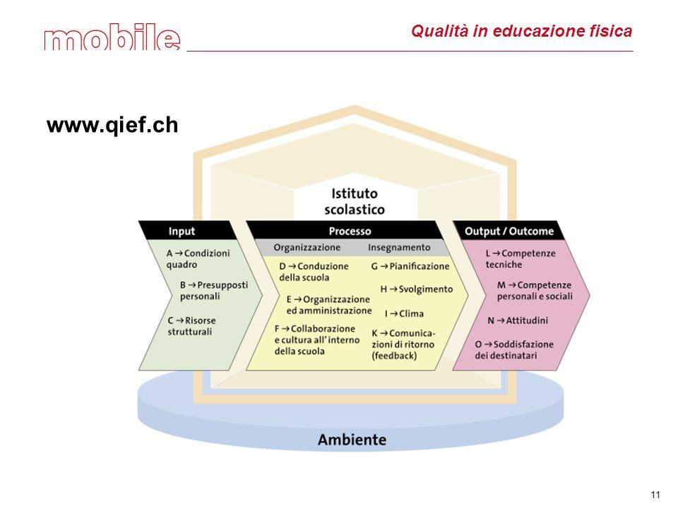 11 Qualità in educazione fisica www.qief.ch