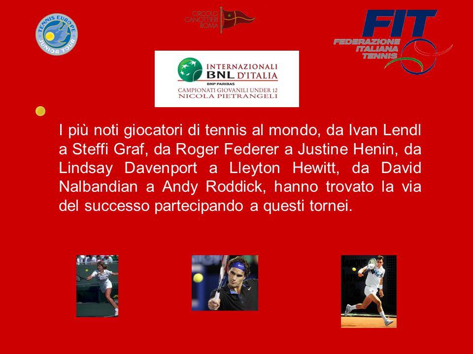 I più noti giocatori di tennis al mondo, da Ivan Lendl a Steffi Graf, da Roger Federer a Justine Henin, da Lindsay Davenport a Lleyton Hewitt, da David Nalbandian a Andy Roddick, hanno trovato la via del successo partecipando a questi tornei.