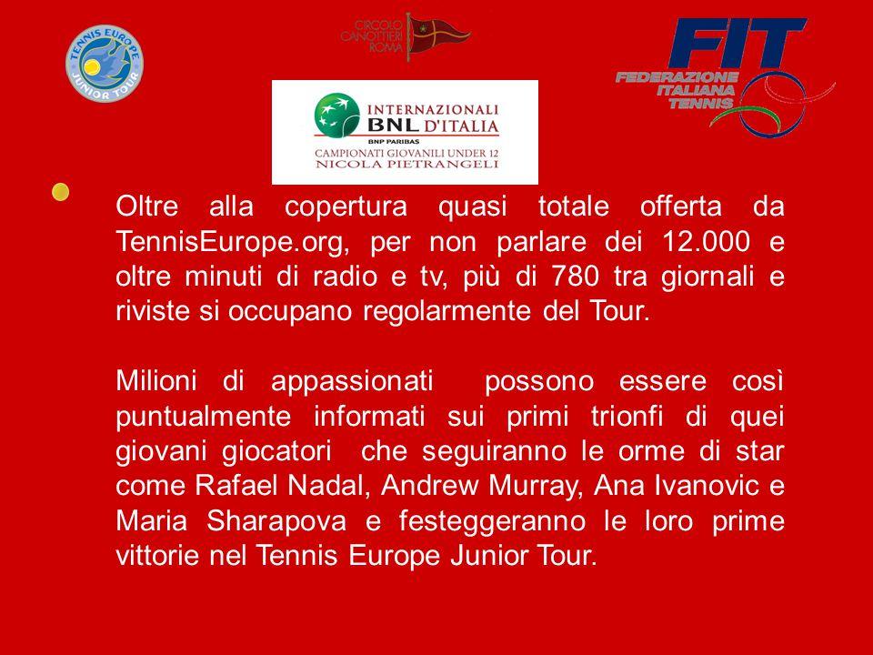 Oltre alla copertura quasi totale offerta da TennisEurope.org, per non parlare dei 12.000 e oltre minuti di radio e tv, più di 780 tra giornali e riviste si occupano regolarmente del Tour.