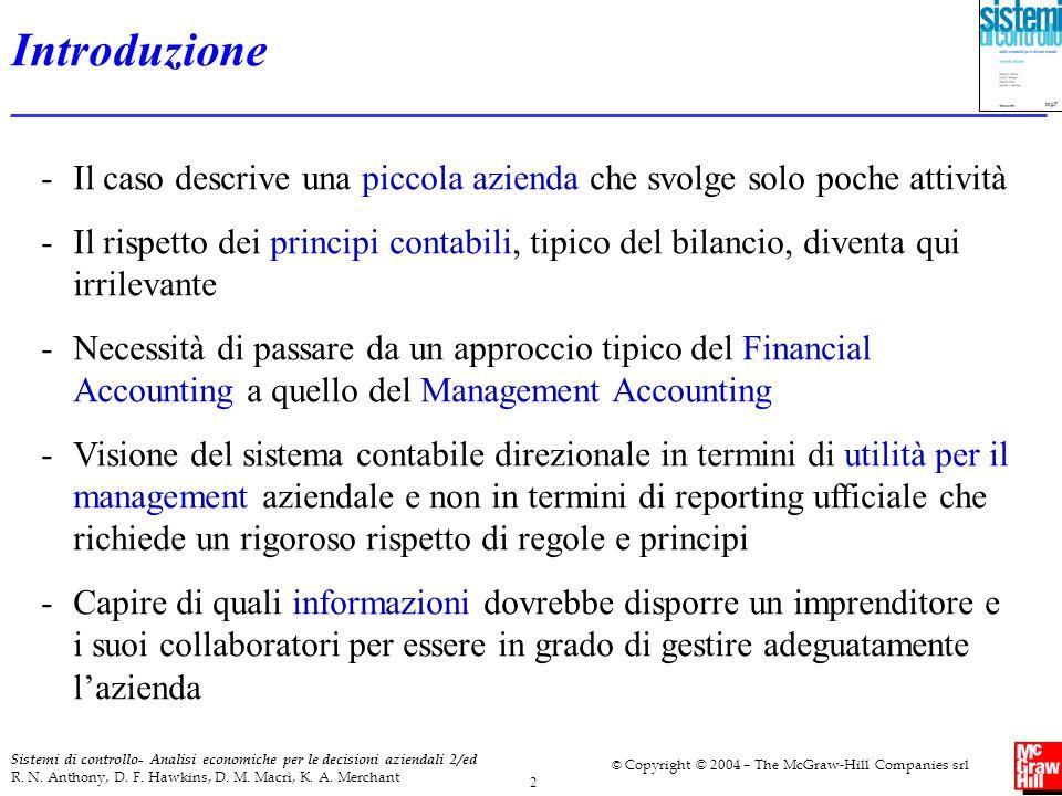 2 Sistemi di controllo- Analisi economiche per le decisioni aziendali 2/ed R. N. Anthony, D. F. Hawkins, D. M. Macrì, K. A. Merchant © Copyright © 200