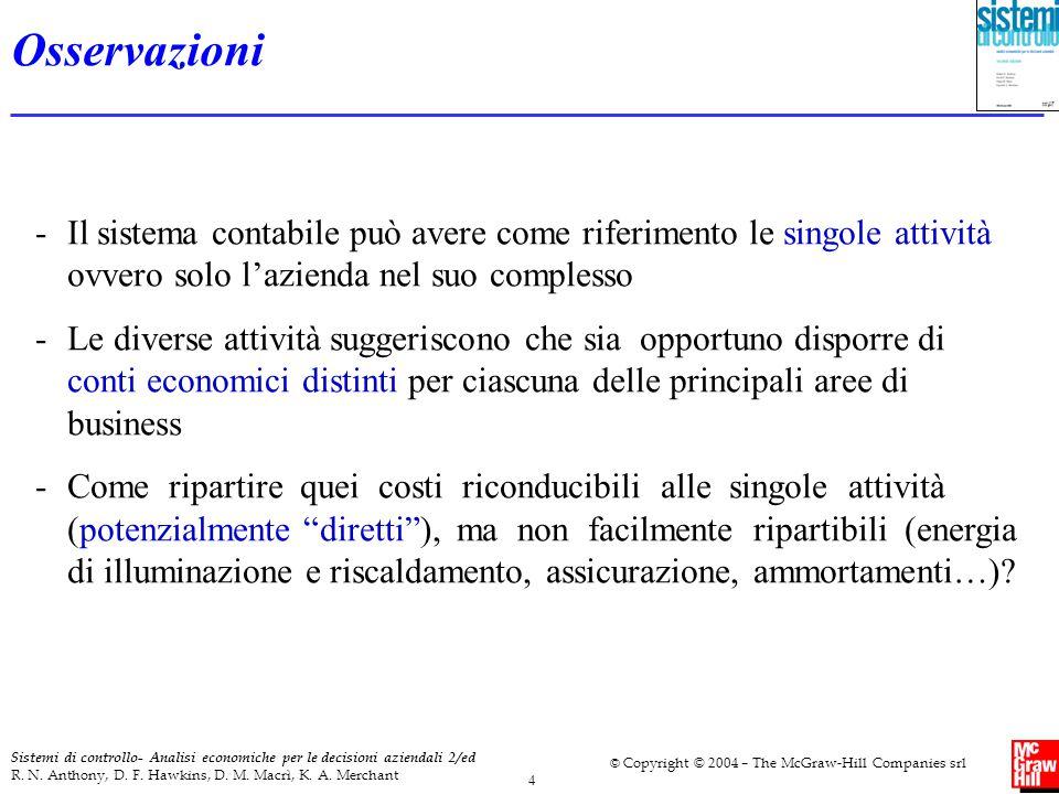 5 Sistemi di controllo- Analisi economiche per le decisioni aziendali 2/ed R.