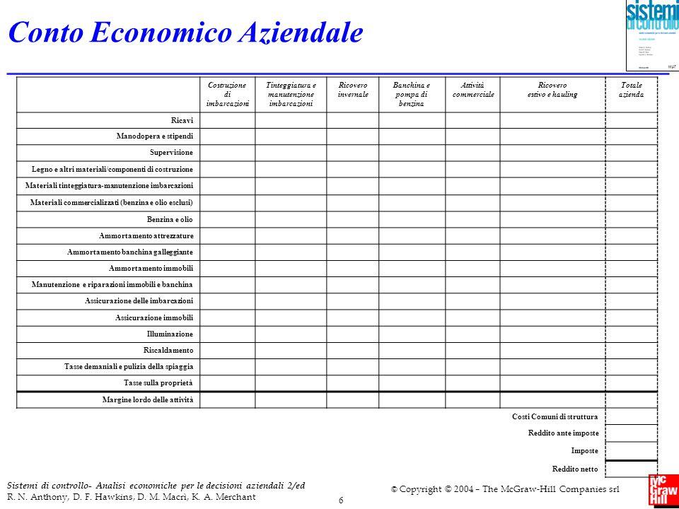 7 Sistemi di controllo- Analisi economiche per le decisioni aziendali 2/ed R.