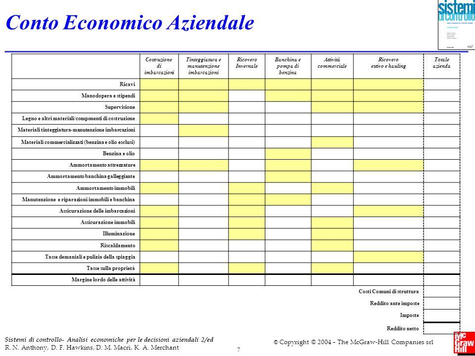 8 Sistemi di controllo- Analisi economiche per le decisioni aziendali 2/ed R.