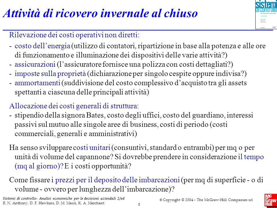 9 Sistemi di controllo- Analisi economiche per le decisioni aziendali 2/ed R.