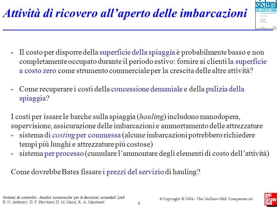 9 Sistemi di controllo- Analisi economiche per le decisioni aziendali 2/ed R. N. Anthony, D. F. Hawkins, D. M. Macrì, K. A. Merchant © Copyright © 200