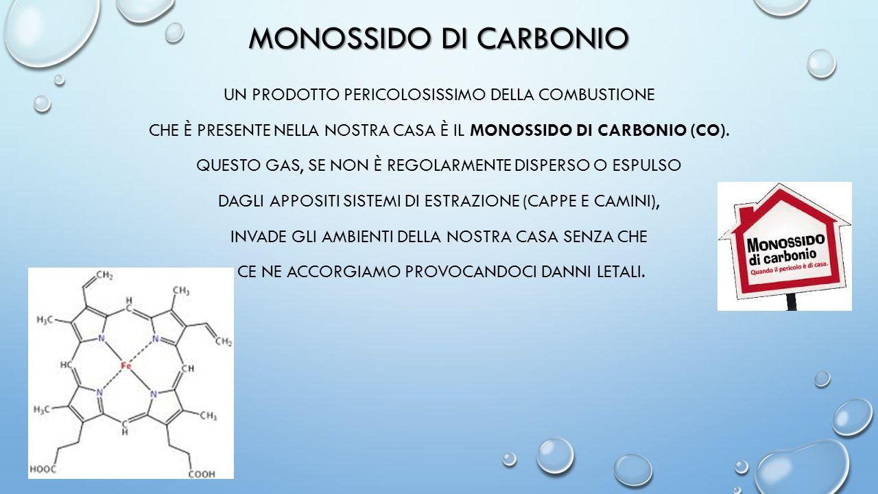 MONOSSIDO DI CARBONIO UN PRODOTTO PERICOLOSISSIMO DELLA COMBUSTIONE CHE È PRESENTE NELLA NOSTRA CASA È IL MONOSSIDO DI CARBONIO (CO). QUESTO GAS, SE N