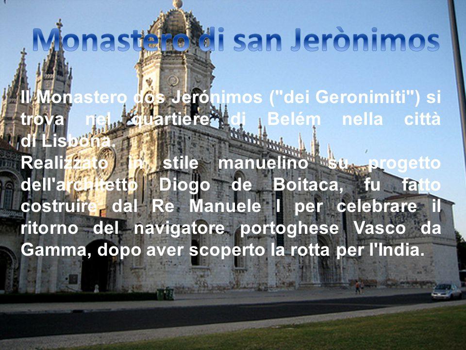 Dopo prima colazione in albergo, partenza verso il monastero di san Jeronimos, capolavoro dello stile manuelino, il museo delle carrozze, dove si trov