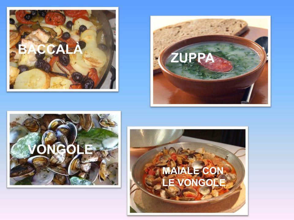 I piatti tipici sono: il baccalà, le zuppe, la carne di tacchino e maiale, vongole e altri piatti che potrà assaporare nei ristoranti da noi consiglia