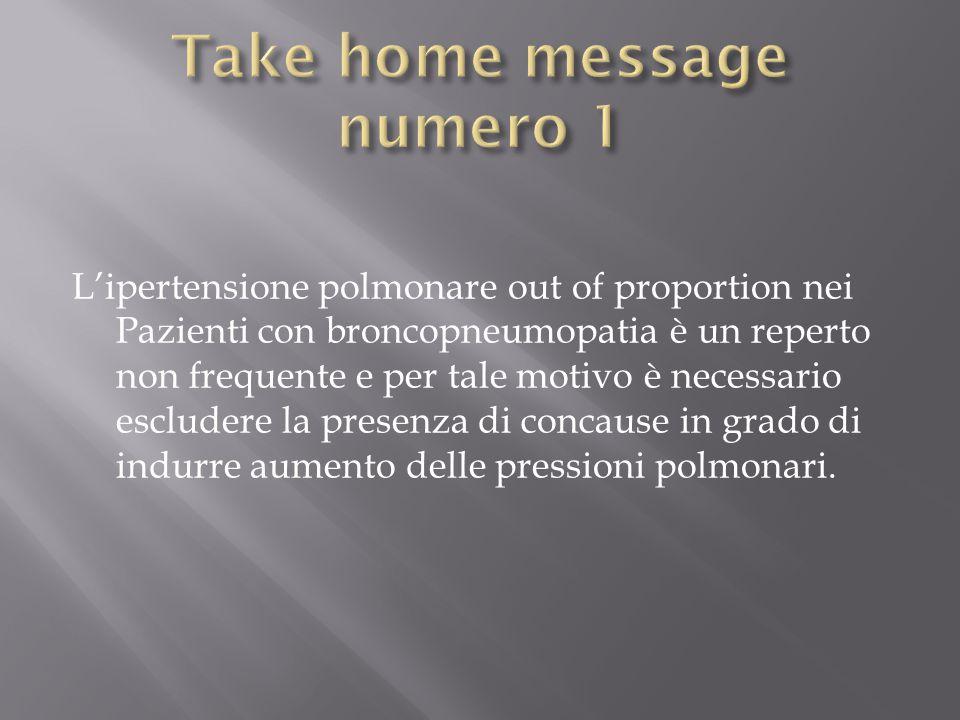 L'ipertensione polmonare out of proportion nei Pazienti con broncopneumopatia è un reperto non frequente e per tale motivo è necessario escludere la p