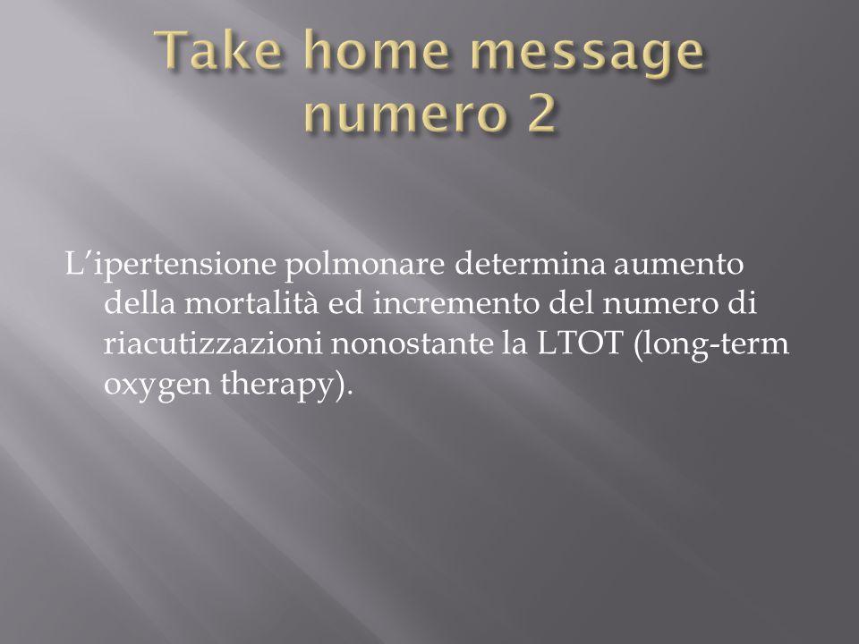 L'ipertensione polmonare determina aumento della mortalità ed incremento del numero di riacutizzazioni nonostante la LTOT (long-term oxygen therapy).