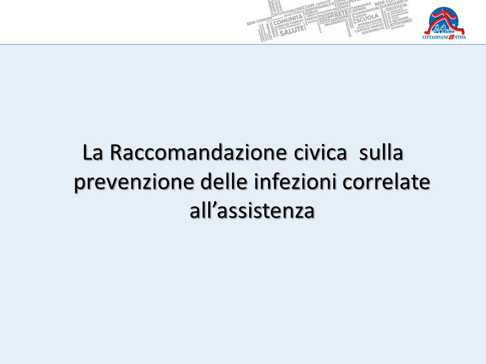 La Raccomandazione civica sulla prevenzione delle infezioni correlate all'assistenza