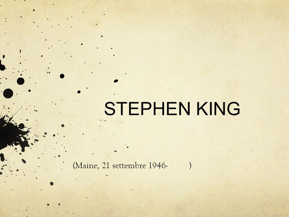 STEPHEN KING (Maine, 21 settembre 1946- )