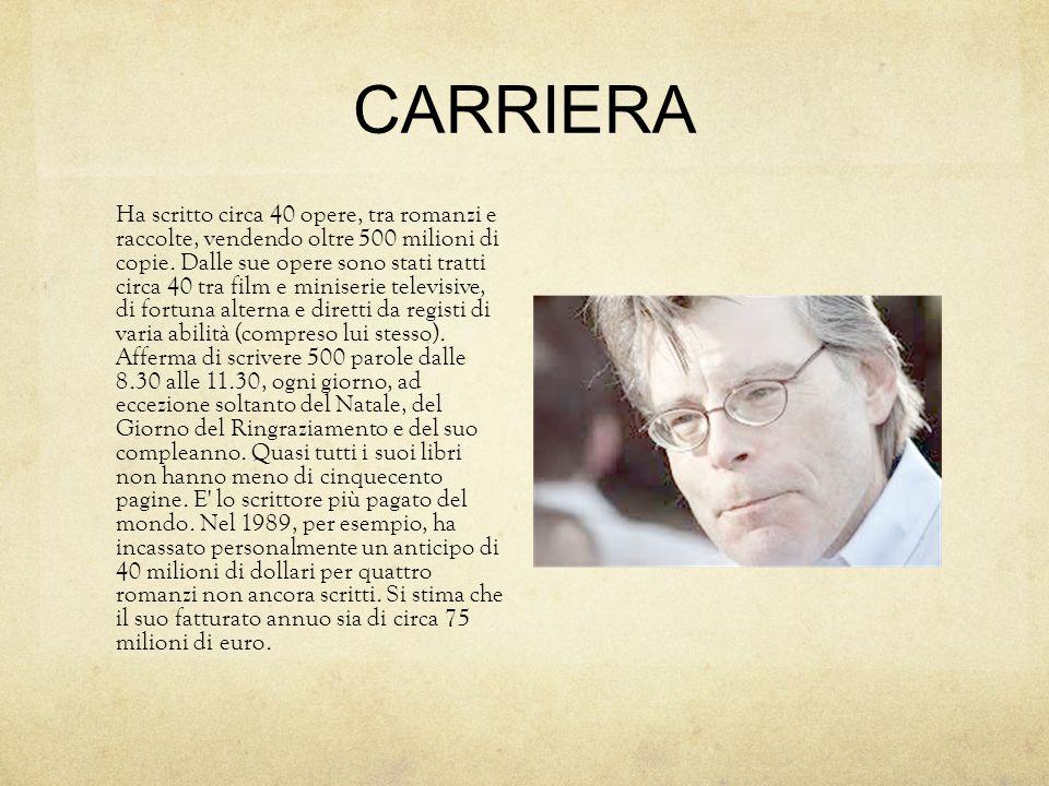 CARRIERA Ha scritto circa 40 opere, tra romanzi e raccolte, vendendo oltre 500 milioni di copie.