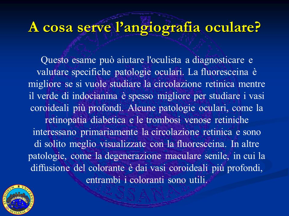 A cosa serve l'angiografia oculare.