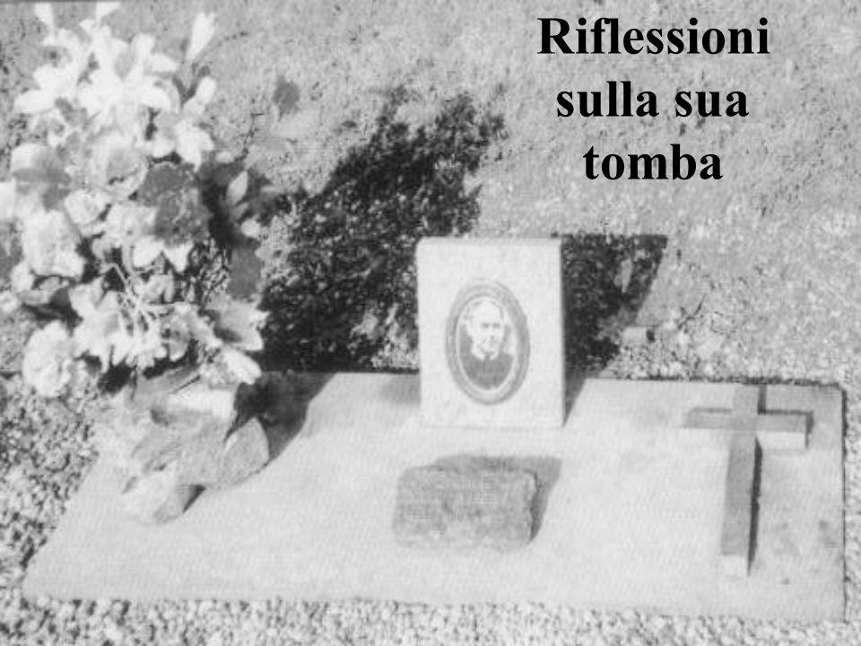 Riflessioni sulla sua tomba
